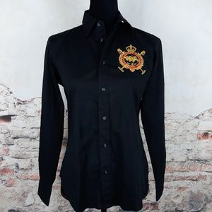 Ralph Lauren Sport Black Gold Embroidered Crest 6